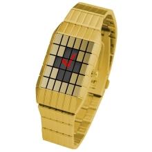 Часы Lines analog Gold